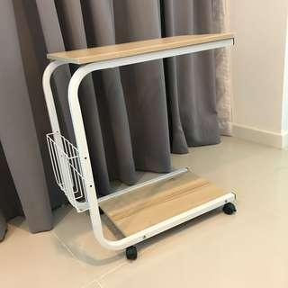 Movable Magazine Rack Side Table