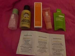 Bundle of skincare products/samples