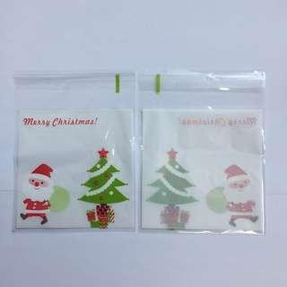 10cm Self Adhesive Cookie Wrapper - Merry Christmas