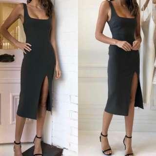 C'est cool dress in olive