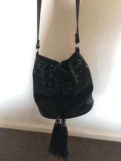 Sportsgirl black bag with tassels