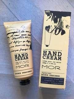 MOR Correspondence Quince Persimmon Hand Cream NEW