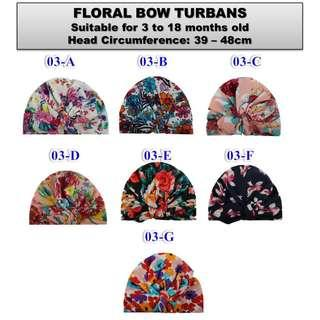 Floral Baby Turbans Baby Beanies