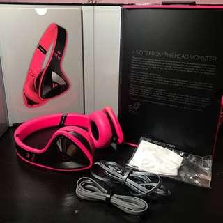 Monster DNA On Ear Headphones with ControlTalk Cables - Laser Pink