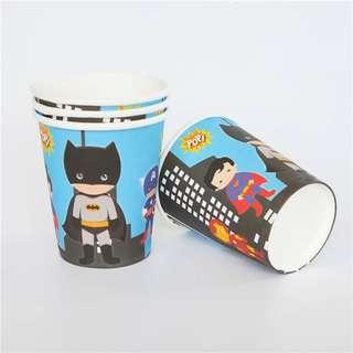 Cartoon Superheroes Avengers Justice League party supplies - party cups