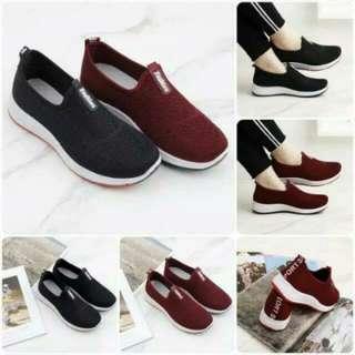 Sepatu Fashion Semi premium Maroon sze 36