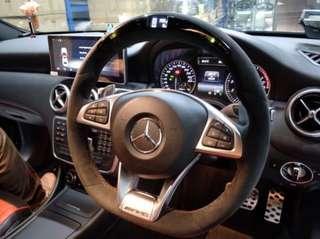 Mercedes Benz A45 C43 C63 Alcantara Shift Light LED AMG Steering