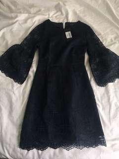 Zalora blue lace dress
