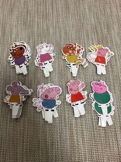 New peppa pig cupcakes topper decoration birthday party cupcake accessories peppapig