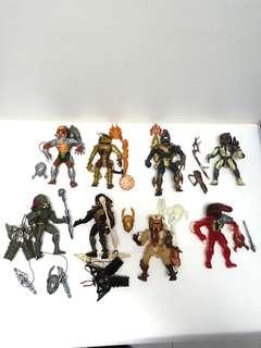 Vintage  kenner predator  action figures lot