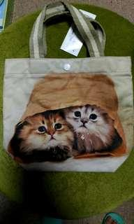 可愛貓貓 多用途手挽袋