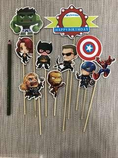 New super heroes cake topper decoration birthday party cupcakes super hero