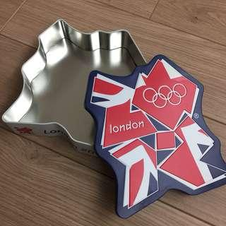 🚚 倫敦奧運logo造型鐵盒