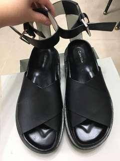 Calvin Klein black sandals 厚底涼鞋