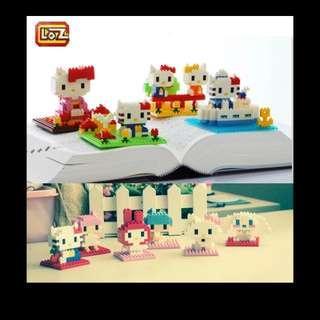 Hello kitty lego block 小積木 Kitty&mimi蘋果花園款
