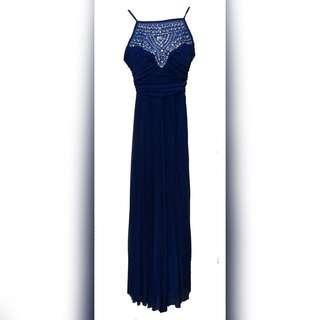 Blue Studded Long Gown
