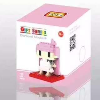 Little twin star lala 粉紅色 雙子星 lego block 小積木