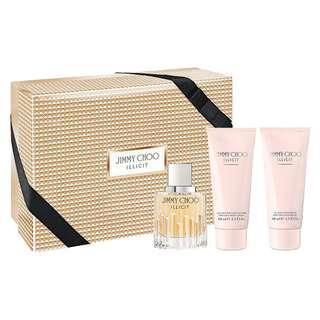 🚚 Jimmy Choo Illicit 3 Pcs Gift Set for Women (100ml EDP+Body Lotion+Shower Gel)