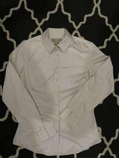 Banana Republic Non Iron Work Shirt in Light Pink