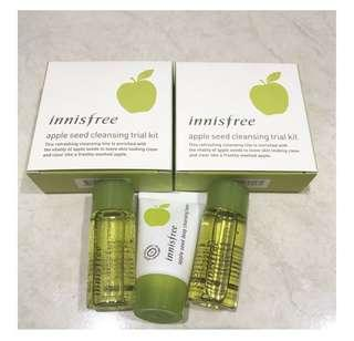 Innisfree apple cleanser kit