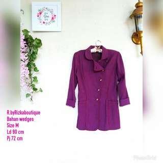 Hamira Purple Blazer