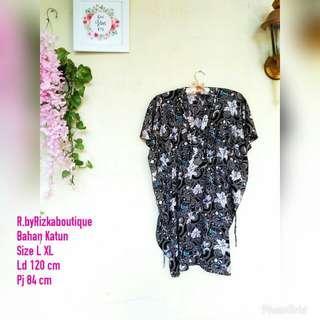 Bayra Black Batik Dress