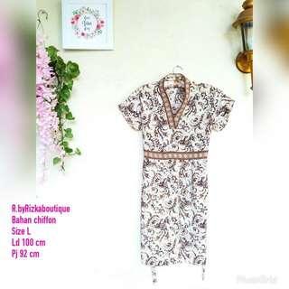 Hamira Batik Dress Cantik