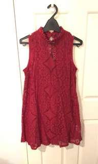 Bohoo high neck shift dress