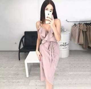 Elegant Sexy Nude Dress