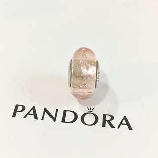Pandora Peach Crystal Glass
