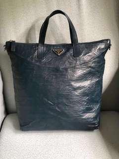 Authentic Prada Tote Bag in Denim Color