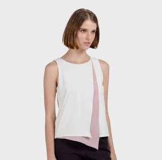 Ellysage Contrast Layered Flap Top