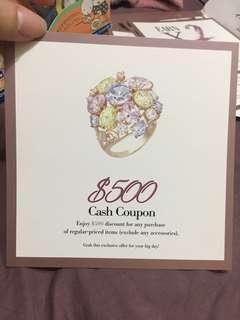 arte $500 cash coupon