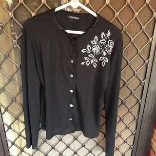 Black cardigan hitam knit