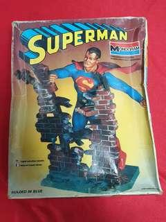 Vintage monogram superman model kit figure
