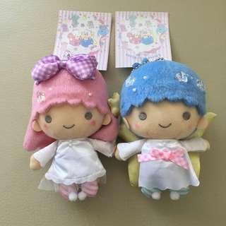 颱風特價 Sanrio Ts little twin stars 雙子星 公仔一對