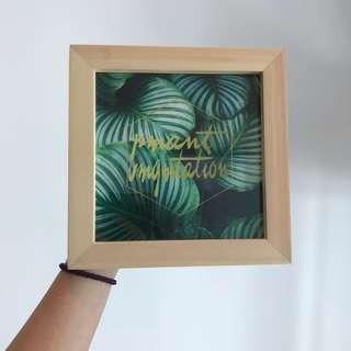 Wooden Decorative Frame with poster
