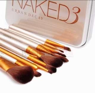 Urban decay naked 3 make up brush 12 pcs set