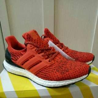 🔥UK8🔥 Energy Red Adidas Ultra Boost Ultraboost 3.0 rare