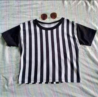 Baseball Stripes Crop Top