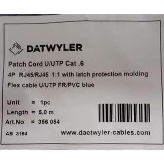 Cat 6 Patch Cable (5M) x 10 pcs