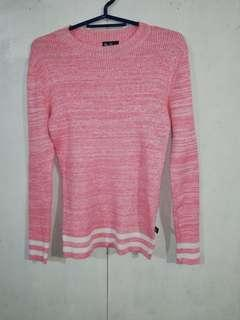 BNY Jeans Ribbed Long Sleeves Semi Turtle Neck