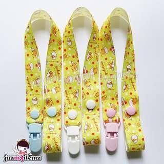 Multipurpose Toy clip / Pacifier clip / Dummy clip / Teether Holder Clip - Gudetama PC007