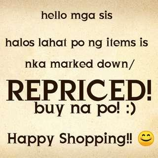 Repriced items!!!