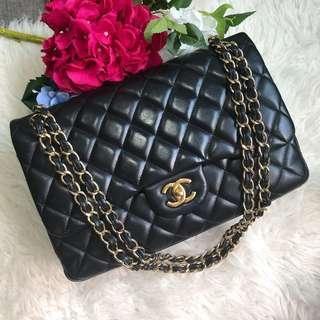 🖤Super good deal!🖤 Chanel Jumbo DF in Black Lambskin GHW.