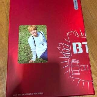 [SET] BTS Seasons Greetings 2017 Official Full Set with Park Jimin JM Photocard