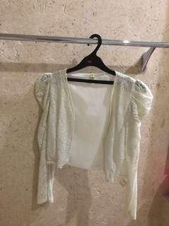 Cardigan laces putih