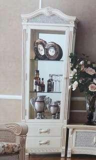 全新象牙白裝飾櫃展示櫃