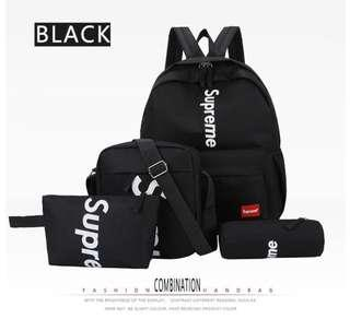 Supreme backpack 4 pcs set new in stock