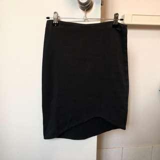 Kookai dark grey midi skirt